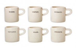 "Ceramic ""Word"" Mugs"