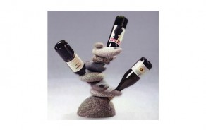 Six Bottle Stone Wine Rack