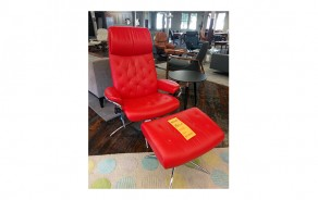 Metro Highback Chair & Ottoman