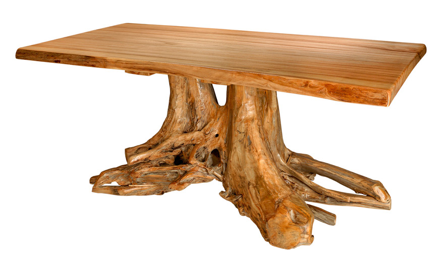 Attractive Double Stump Dining Table