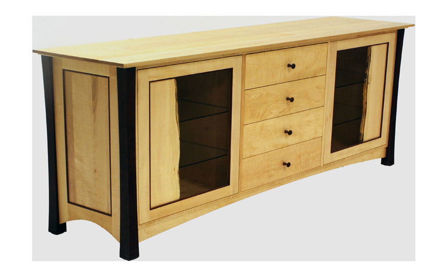 Willoughvale buffet with live edge doors fairhaven furniture