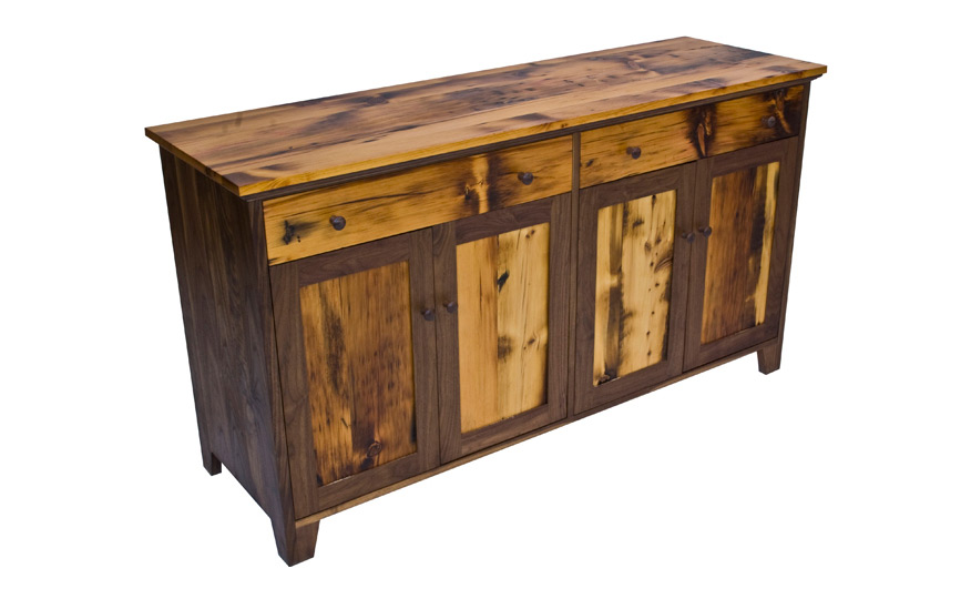 Well known Vermont Country Reclaimed Wood Buffet | Fairhaven Furniture OV95
