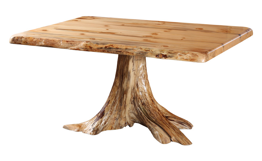 Single Stump Dining Table Fairhaven Furniture